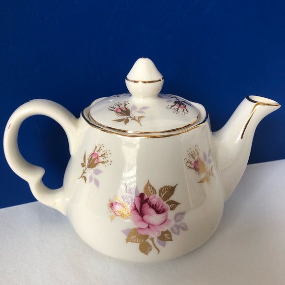 Lord Nelson Pottery Genuine Ironstone Other - Lord Nelson Pottery Teapot Tea Pot Pink Roses